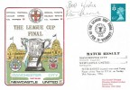 1976 The League Cup Final, Man City v Newcastle Utd. Scarce Football Cover, Signed by Peter Barnes.