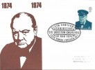 1974 Stamp Publicity Universal Cover, Sir Winston Churchill Birth Centenary Exhibition, Cafe Royal London W1 H/S