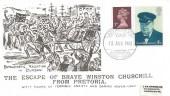 1980 J & M Arlington Commemorative Cover, Escape of Brave Winston Churchill from Pretoria, Anglo Boer War Exhibition Warwick H/S