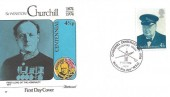 1974 Sir Winston Churchill, Set of 4 Fleetwood FDC's, with Relevant Special Handstamp Postmarks