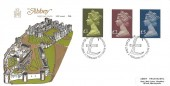 "1977 £1, £2, £5 High Value Large Format Definitives, Abbey FDC, First Day of Issue Windsor ""£"" H/S"