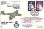 1972 Silver Wedding RAF Hendon FDC, British Force 1307 Postal Service H/S, Signed