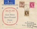 1953 5d, 8d, 1/- Wilding Definitives, Display FDC, Gosport Hants cds