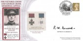 2003 Victoria & George Cross Memorial Appeal Cover,  Signed by Captain R.W.Annand VC (deceased)