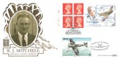 1995  £1 Spitfire Label, Benham Gold No.106 Official FDC, R J Mitchell Aircraft Designer Stoke on Trent H/S