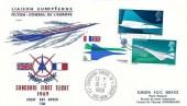 1969 Concorde Special Philart FDC, Filton FDI + Conseil de L'Europe Postmark