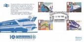 1988 Transport & Communications, Cinecosse Official FDC, Tenth Anniversary Video Cinecosse Film Ellon Aberdeenshire H/S