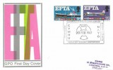 1967 European Free Trade Area (EFTA) Ordinary Set, GPO FDC, Radiation Biology Conference, Portmadoc H/S.