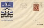1934 KGV 1½d Brown Photogravure Definitive, Railway Air Services FDC , London FS Airmail Cancel