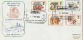 1982 Christmas Historic Relics HMS Brilliant Official FDC