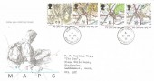 1991 Maps, Royal Mail FDC, Ham Street Ashford Kent cds.