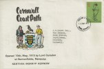 1973 County Cricket Centenary, Cornwall Tourist Board FDC, Truro Cornwall FDI.