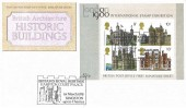 1978 Historic Buildings Miniature Sheet, Post Office FDC, Britain's Royal Heritage Hampton Court Palace Kingston Upon Thames H/S.
