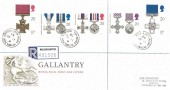 1990 Gallantry, Registered Royal Mail FDC, Victoria Park, Tipton, West Midlands cds.