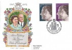 1972 Silver Wedding, Philart FDC, Royal Silver Wedding Westminster Abbey London SW1 H/S.