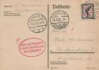 1930 Postcard flown on Graf Zeppelin Befördert from Königsberg arriving in Berlin 25th August.