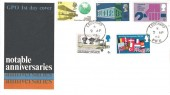 1969 Notable Anniversaries, GPO FDC, Leuchars Fife cds, RAF Leuchars.