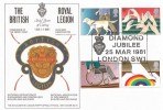 1981 Year of Disabled People, The Royal British Legion Official FDC, Diamond Jubilee London SW1 HS