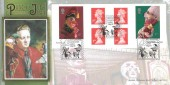 2001  Punch & Judy Self Adhesive Stamp Booklet, Benham BLCS212 FDC, Self Adhesives Covent Garden London H/S.