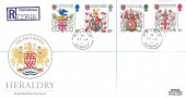 1984 Heraldry, Registered Royal Mail FDC, Richmond Surrey cds.