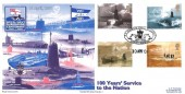 2001 Submarines, Royal Naval Covers FDC, RN Submarine Service Centenary Gosport Hampshire H/S.