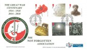 2014 The Great War Centenary, The Not Forgotten Association GBFDC Official FDC, The Great War Centenary The Not Forgotten Association Founded 1920 GBFDC London H/S.
