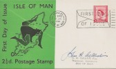 1964 2½d Isle of Man Regional, Isle of Man 2½d Special FDC, First Day of Issue Douglas Isle of Man Slogan, signed by Stamp Designer.