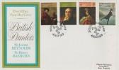 1973 British Paintings, Post Office FDC, Douglas Isle of Man H/S.