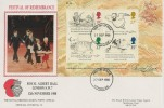 1988 Edward Lear Miniature Sheet, Royal British Legion FDC, London SW FDI.