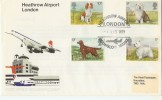 1979 Dogs on Heathrow Airport London FDC