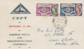 1960 Europa, North Herts Stamp Club FDC, Henlow Camp, Henlow, Beds. cds.