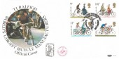 1978 Cycling Benham BOCS 5 Official FDC, TI Raleigh Tour De France Nottingham H/S