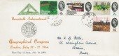 1964 Geographical Congress, North Herts Stamp Club FDC, Hitchin Herts cds.
