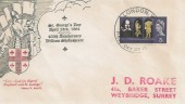 1964 William Shakespeare, St. George's Day FDC, London WC FDI.