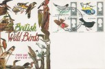 1966 British Birds, Connoisseur FDC, Fareham FDI.