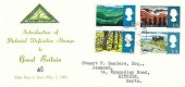 1966 British Landscapes, North Herts Stamp Club FDC, Hitchin Herts. cds