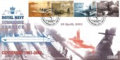 2001 Submarines, Royal Naval Group Official Ltd Edition FDC, RN Submarine Service Centenary H/S