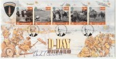 1994 D Day Bradbury LFDC 124 Official FDC. Signed by W.Churchill MP