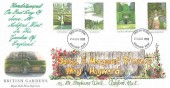 1983 British Gardens, Royal Mail Hand Illustrated FDC, Ashford Kent FDI.