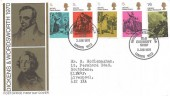 1970 Literary Anniversaries, Post Office FDC, Old Curiosity Shop London WC2 H/S
