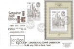 1980 London 1980 Stamp Exhibition, double dated with London 1980 MS, Sanquhar Post Office FDC, Sanquhar cds.