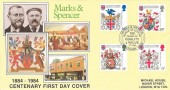 1984 Heraldry Marks & Spencer Centenary Official FDC, Marks & Spencer Centenary Year Baker St London W1 H/S.