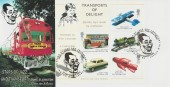 2003 Transports of Delight Miniature Sheet, Peter Payne Official FDC, Stars of Jazz & Transport Ellington Rd London N10 H/S.