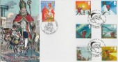 2004 Christmas, Peter Payne Official FDC, Doubled with Belgian Saint Nicolas Stamp 25.10.2003, Saint Nicholas Road London SE18 H/S