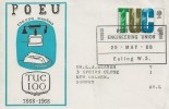 1968 British Anniversaries, PO Engineering Union Official FDC, 4d TUC Stamp only, PO Engineering 100,000 Ealing H/S.