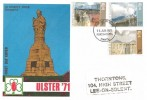1971 Ulster Painting, Universal FDC, Portsmouth Hants. FDI