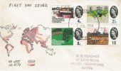 1964 Geographical, Hand Illustrated FDC, London WC FDI