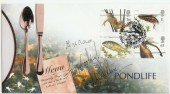 2001 Pond Life Steven Scott Official FDC. Signed by the Roux's