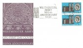 1966 Westminster Abbey, GPO FDC, 3d Phosphor, Westminster Abbey 900th Anniversary Slogan South Kensington.
