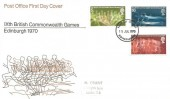 1970 Commonwealth Games, Post Office FDC, Edinburgh FDI